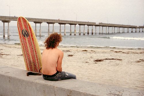 Surfer and Board