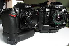 Nikon D90 (digital) vs. F4 (film)
