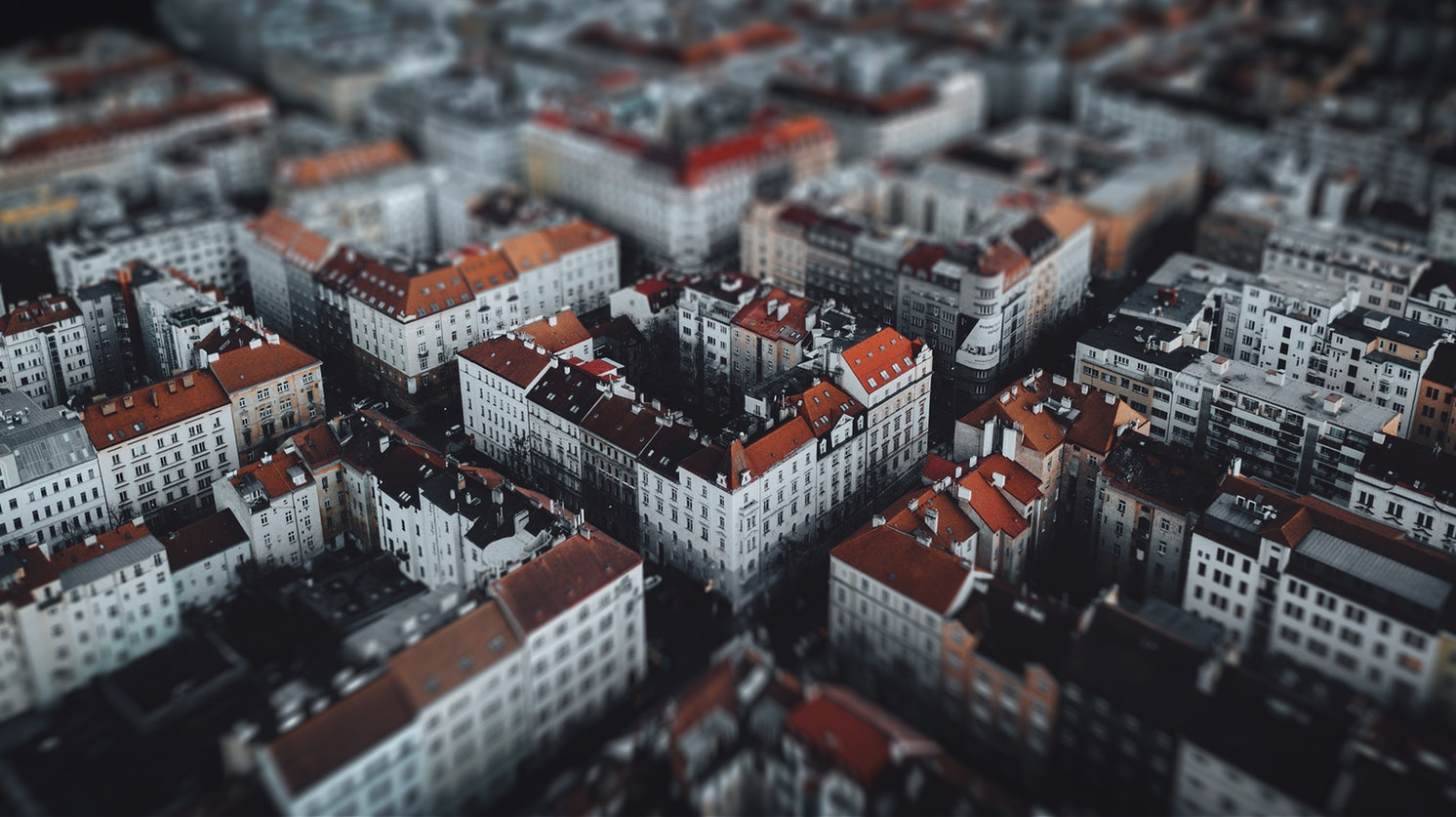 Tilt shift Prague