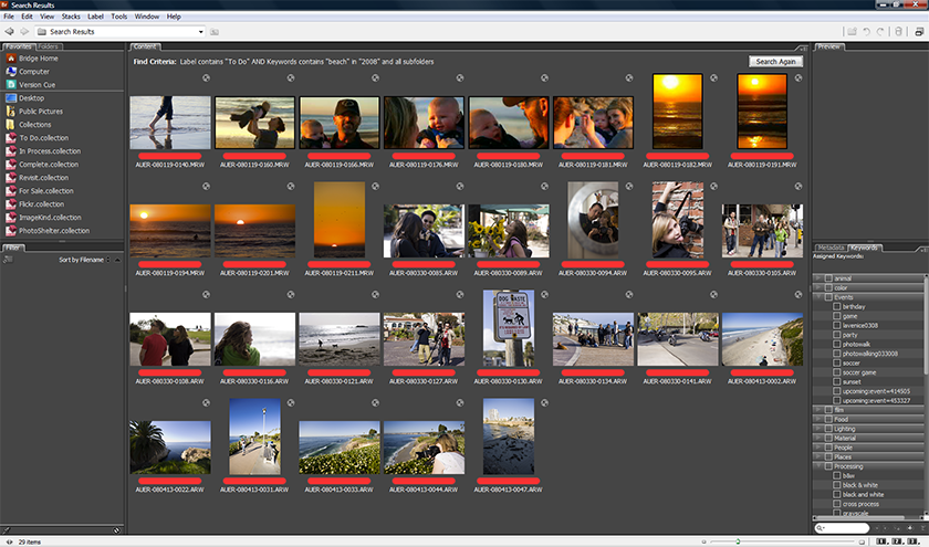 Epic Edits » Archive » Your Guide to Adobe Bridge: Organizing