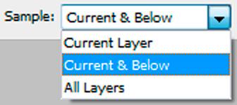 Clone Stamp Sampling Options