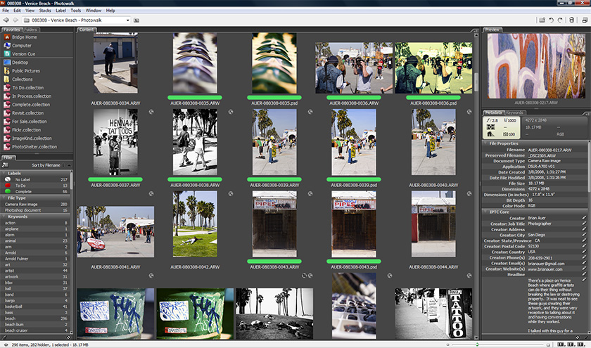 Epic Edits » Archive » Your Guide to Adobe Bridge: Workspace