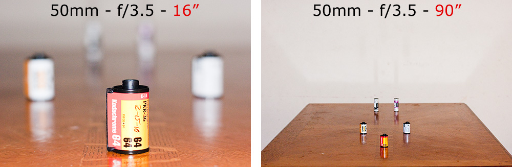 how to set depth of field