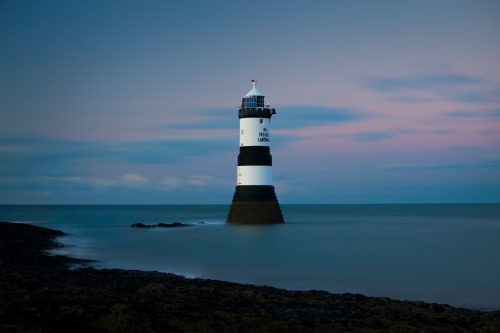 lighthouse on shallow water