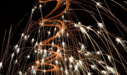 closeup photo of fireworks
