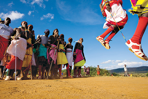 Photo by Michael Nichols | Maralal, Kenya | 2008 | Dancers perform during a three-day Samburu wedding.