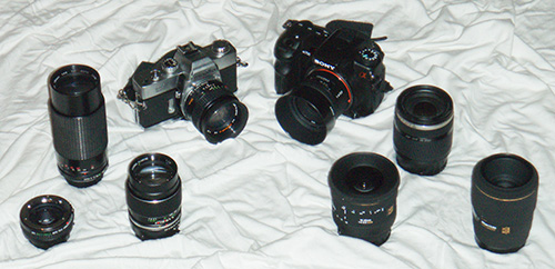 Cameras and Lenses - Old and New