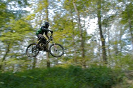 Mid-Air Mountain Biker