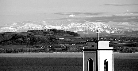 Swiss Alps Beyond Lake Neuchatel