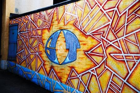 Shattered Wall Graffiti