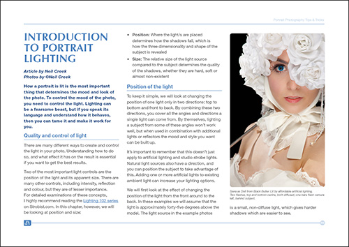 The Essential Guide to Portrait Photography Example Page