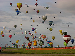 A few balloons