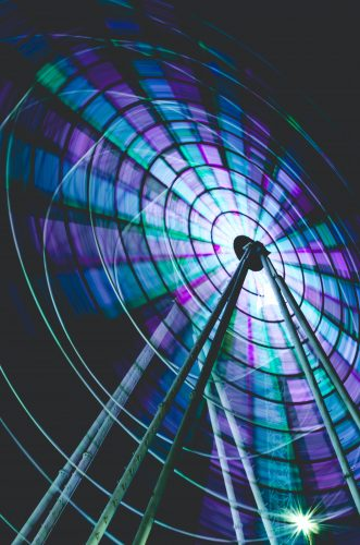 timelapse photo of ferris wheel