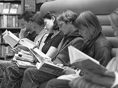 Reading on Flickr