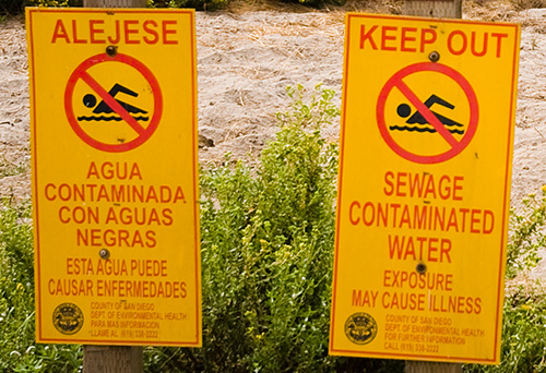 Sewage Contaminated Water 500