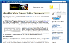 photophlow: A Social Experience for Flickr Photographers