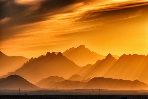 landscape photography of brown mountains